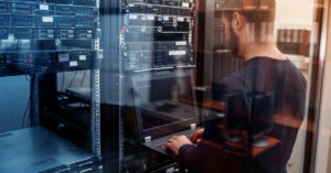 IT Professional Working on Bank's Server